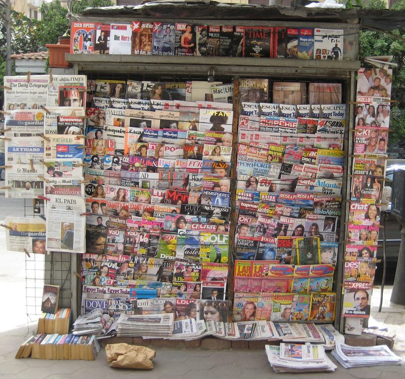 Newstand in Cairo